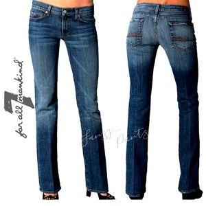 7FAM jeans Bootcut 27 x 33 mid-rise Caribbean  Dd5